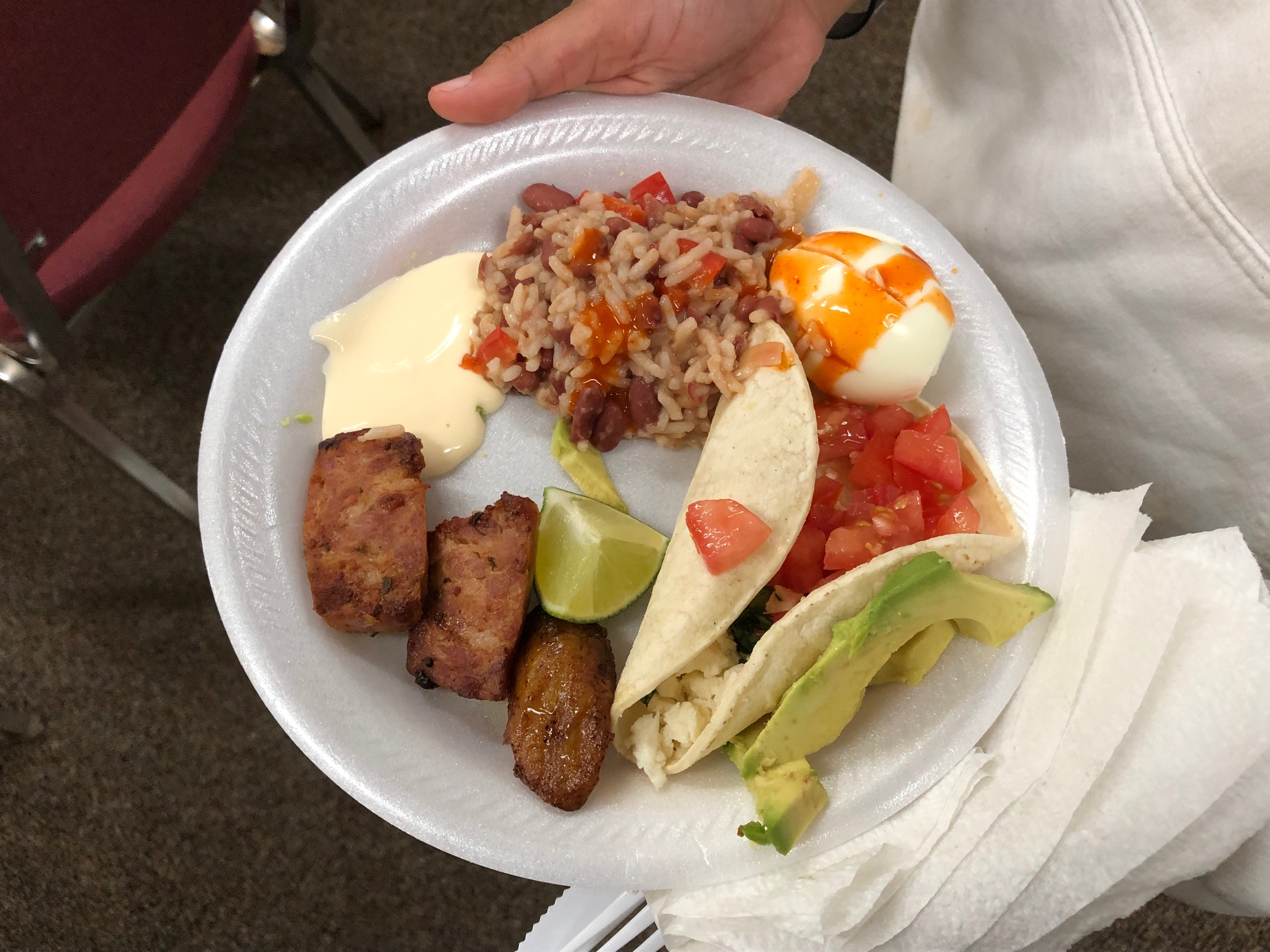Cooking workshop: plate of gallo pinto