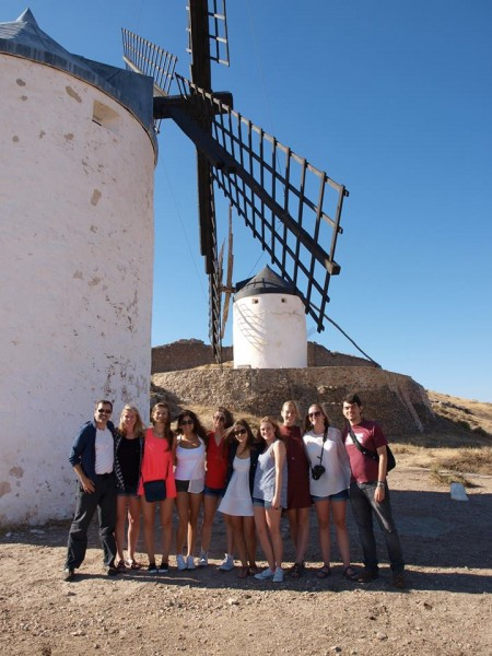 WFU students visit traditional windmills in La Mancha